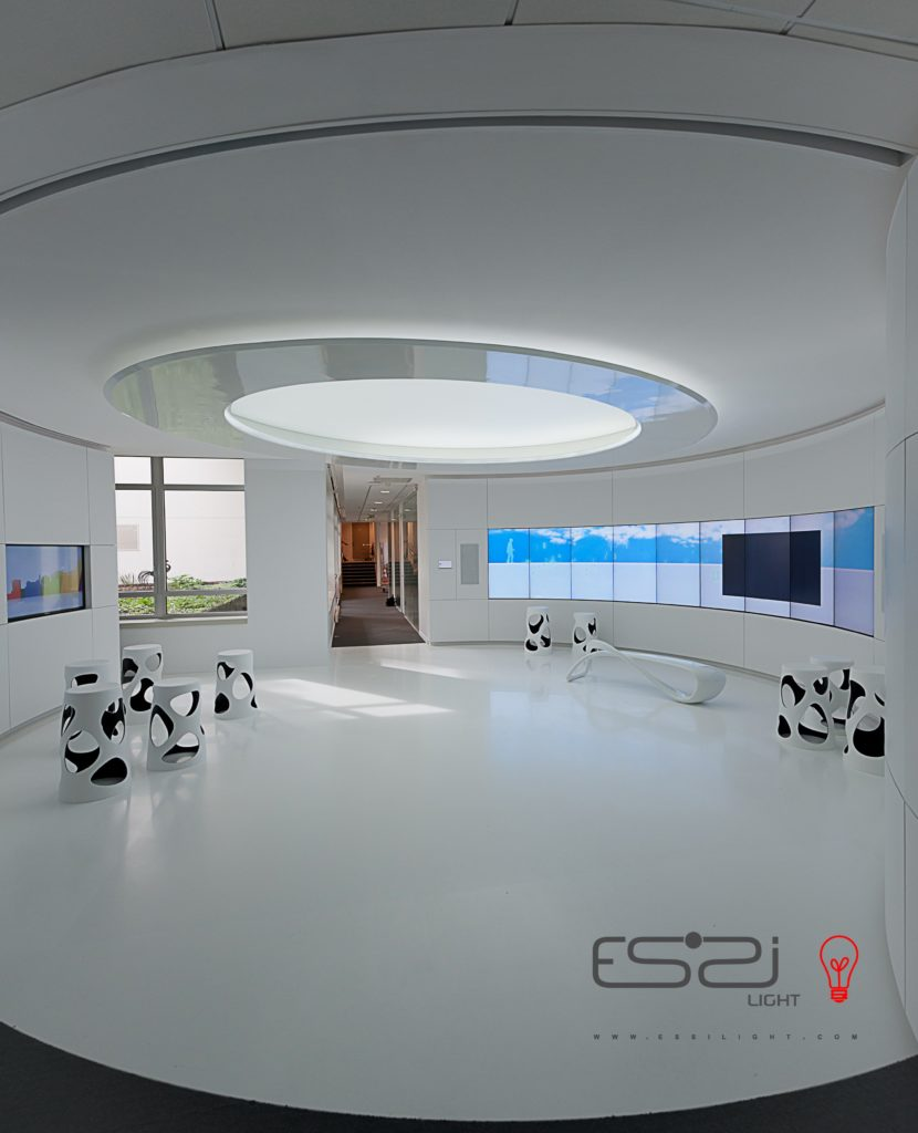 luminaire led avec toile tendue acoustique diffusante sur mesure essilight dessin et. Black Bedroom Furniture Sets. Home Design Ideas