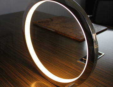 table lamp hand polished